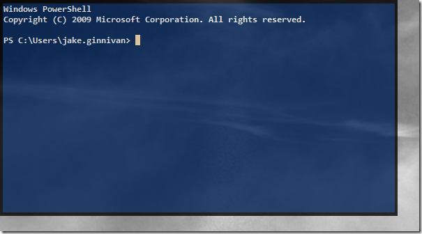 Awesome powershell console