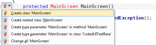 Create Main Screen Class