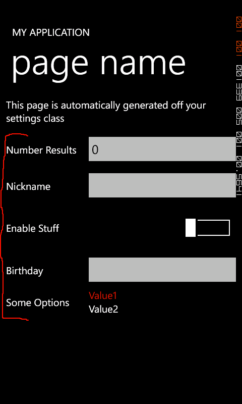 Settings Provider control